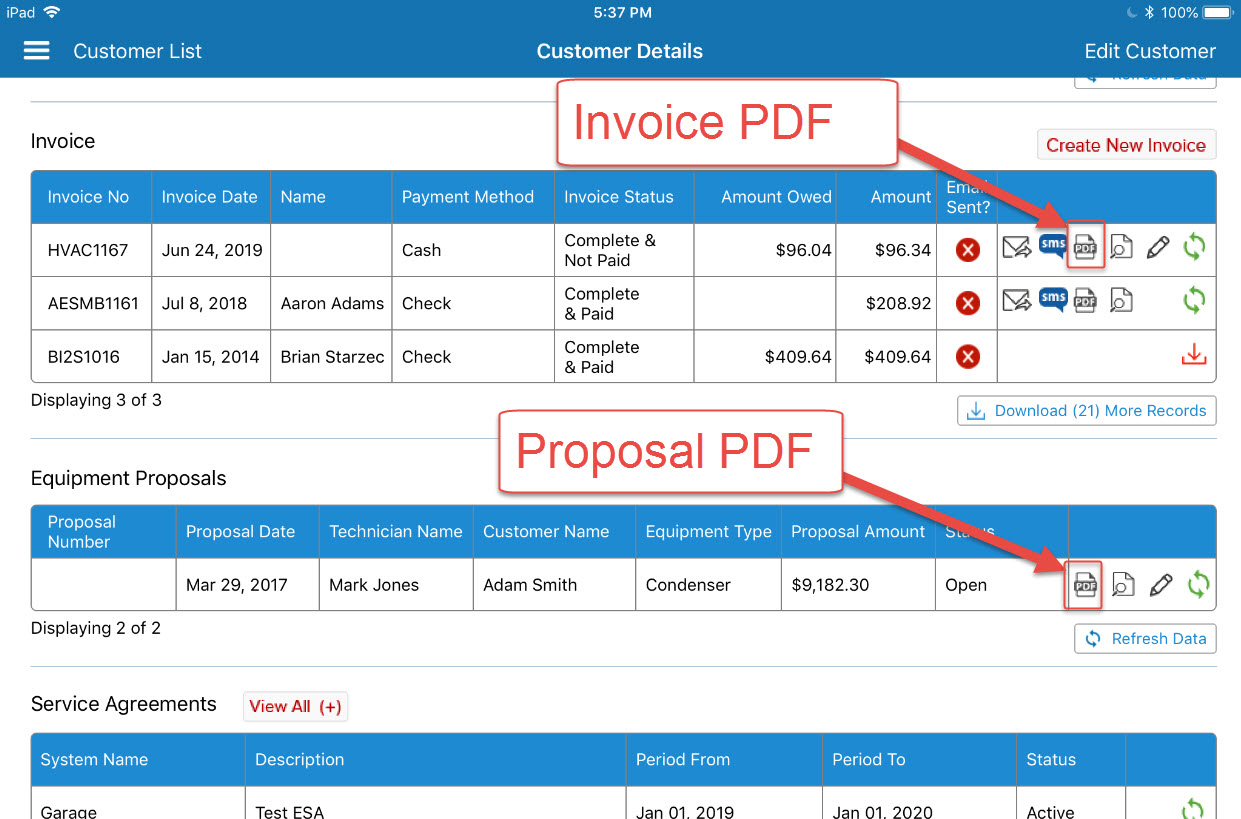 App Ability To Convert Invoices And Proposals To A Pdf P3 Help